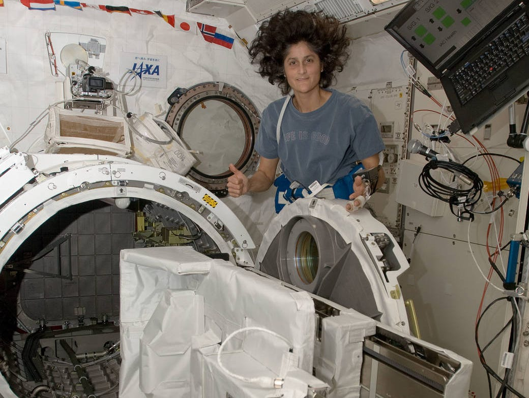 Sunita Williams became the ninth woman to walk in space on Dec. 16, 2006.