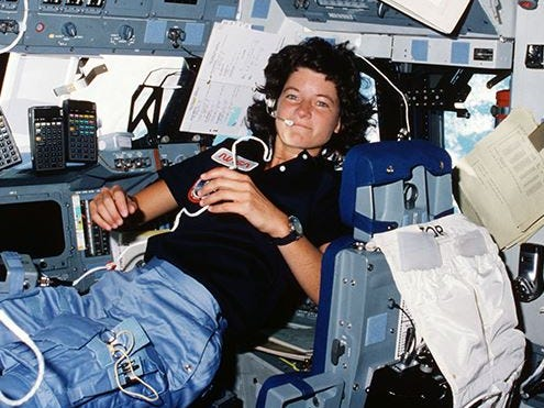 Sally Ride became the first American woman in space when she flew aboard Space Shuttle Challenger on June 18, 1983.