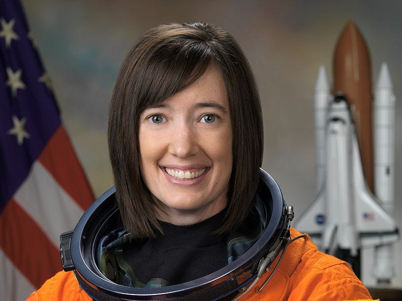 Katherine Megan McArthur served as a Capsule Communicator for both the space shuttle and the space station. She flew aboard STS-125 on May 11, 2009.