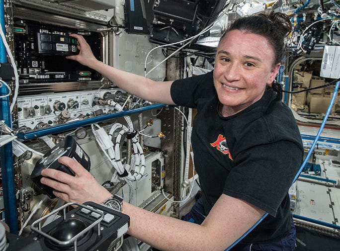 Serena Auñón-Chancellor was a member of the International Space Station Expedition 57/58 crew in 2018.