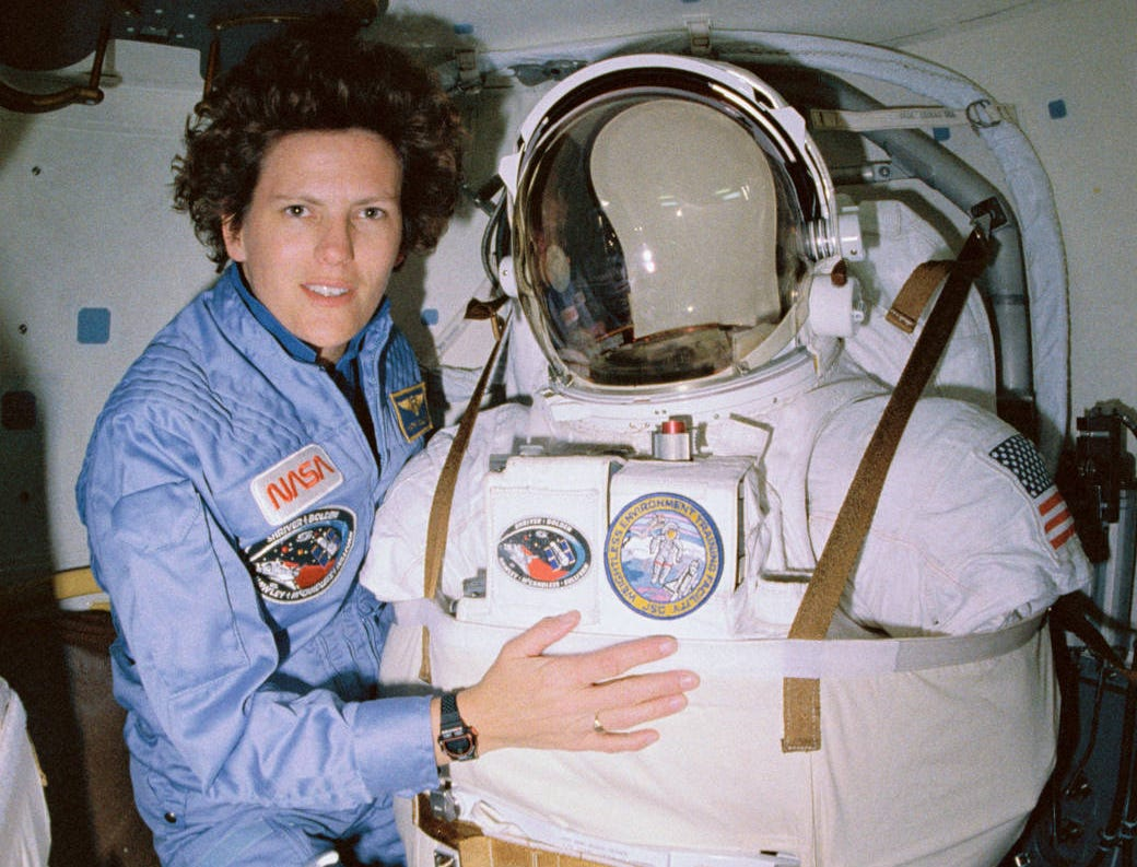 Kathryn Sullivan became the first American woman to perform a spacewalk Oct. 11, 1984.