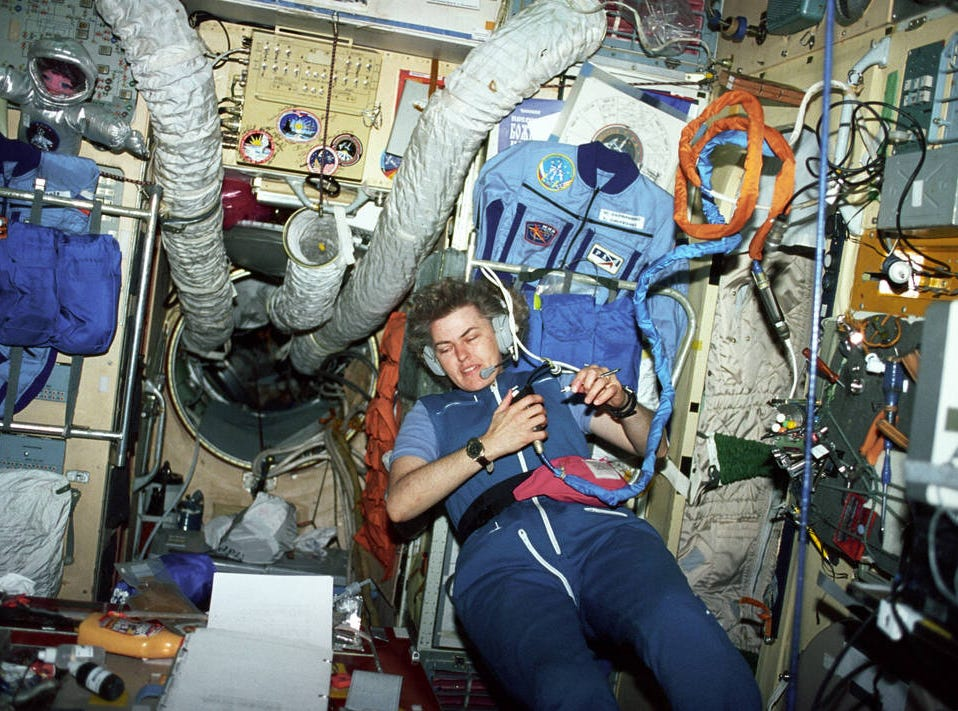 Shannon Lucid was the first American woman to fly on a Space Station when she crewed a prolonged mission aboard Mir in 1996. She was also the first woman to make a third, fourth and fifth spaceflight.