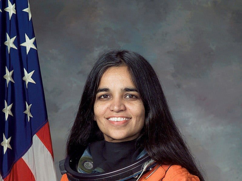 Kalpana Chawla was the first Indian American woman in space. She was killed in the 2003 Columbia shuttle disaster.