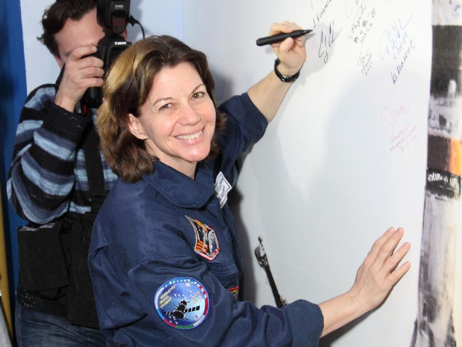 Catherine Coleman flew on three missions between 1995 and 2010.