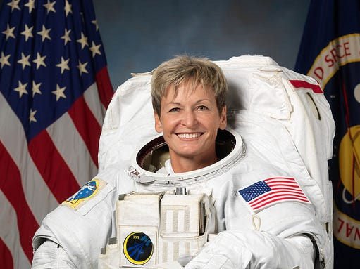 Peggy Whitson has spent more cumulative time in space than any other American astronaut. She was the seventh woman to talk in space and has performed the most spacewalks and spent the most time on on spacewalks of all female spacefarers. She was the first female commander of the International Space Station and became the oldest woman to travel in space at age 57.