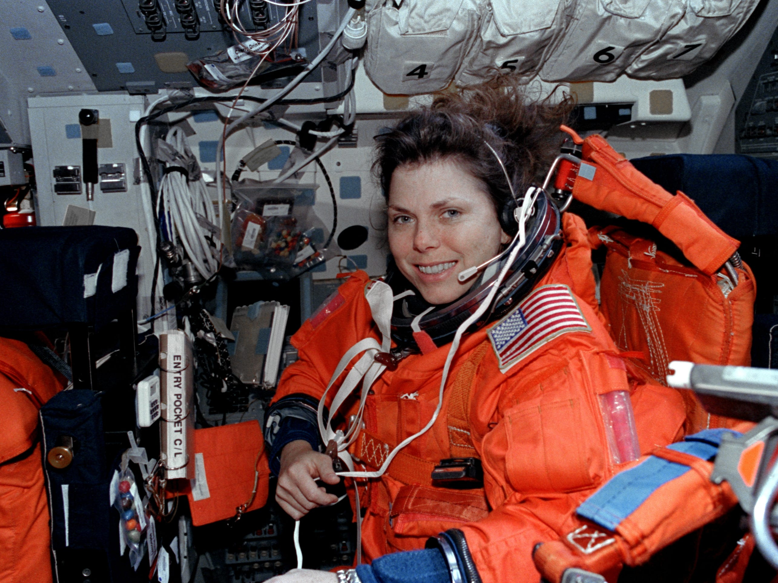 Mary Weber flew aboard two missions between 1995 and 2000.