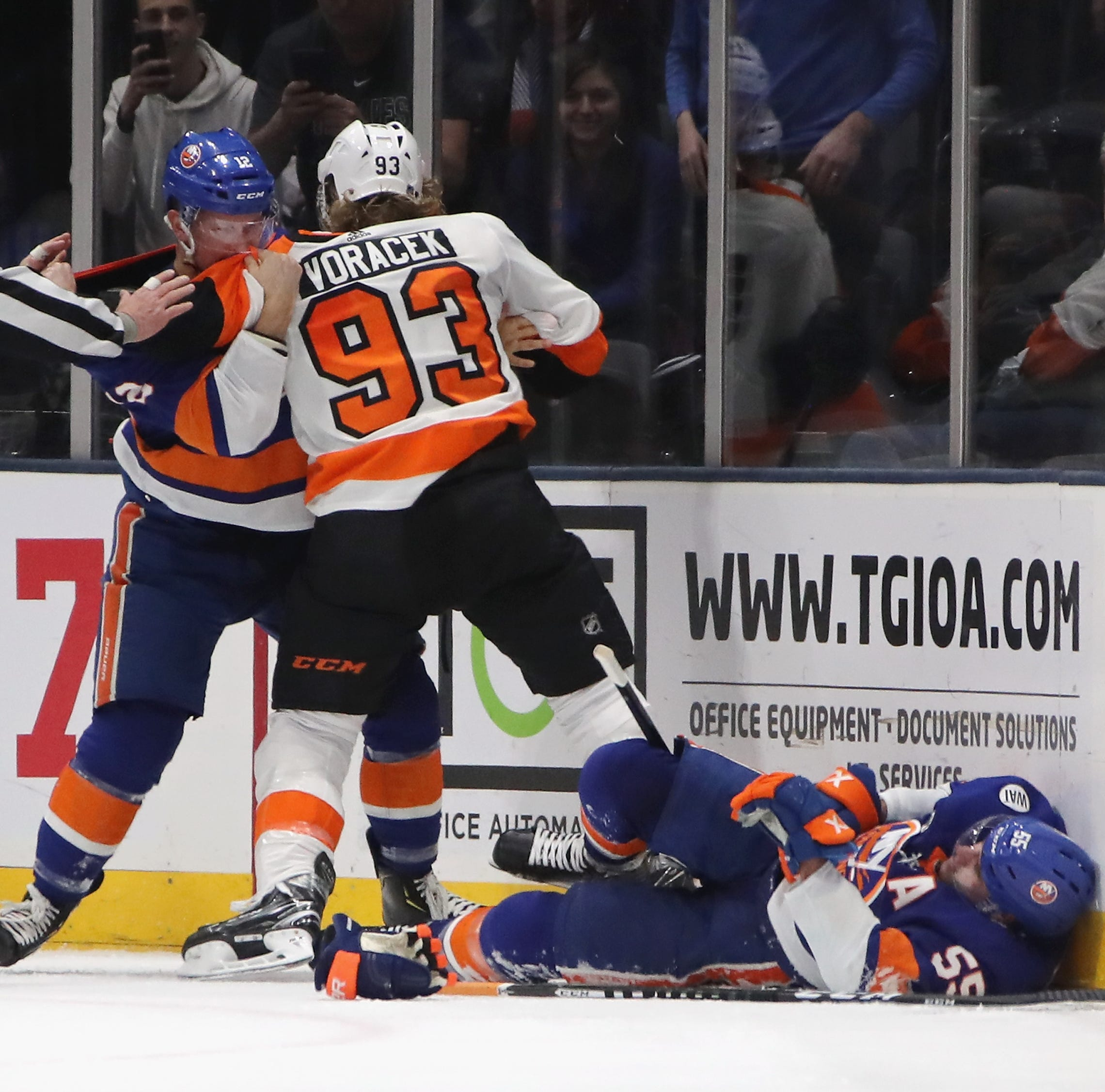 Jake Voracek suspended two games for interfering with Johnny Boychuk