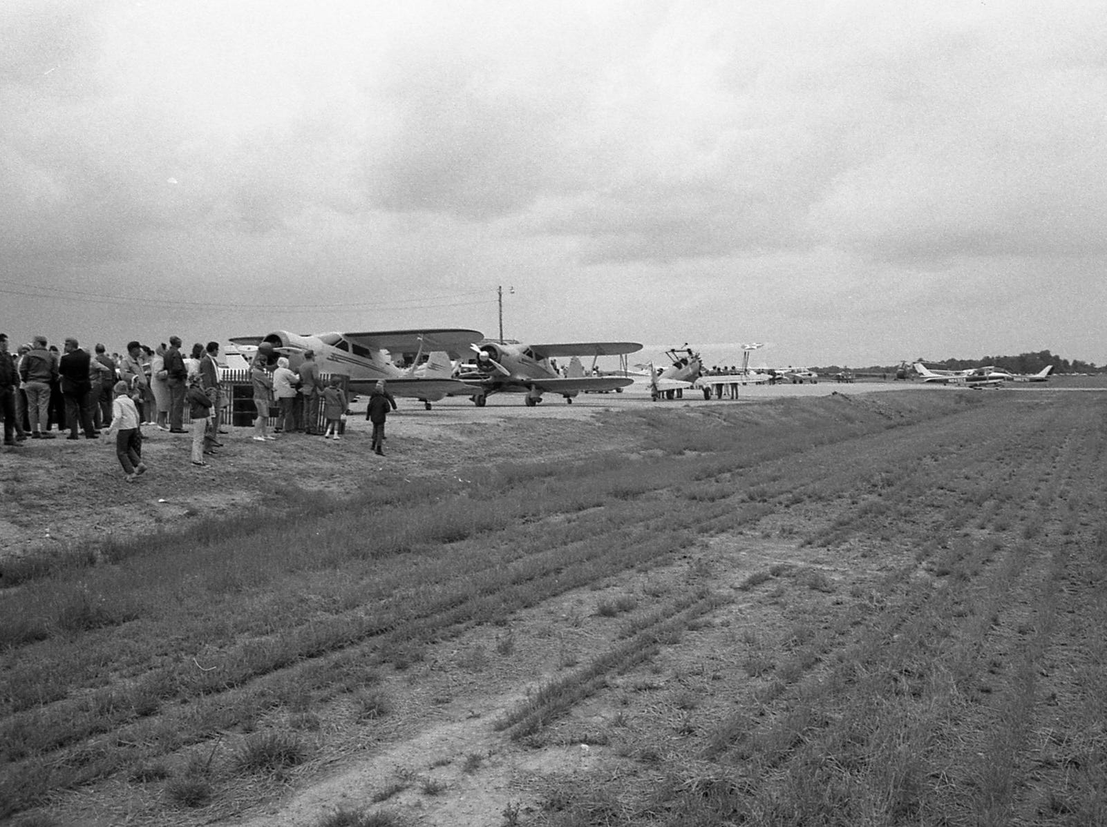 The Ross County Airport was dedicated in May 1970 in an event that included aerial entertainment.