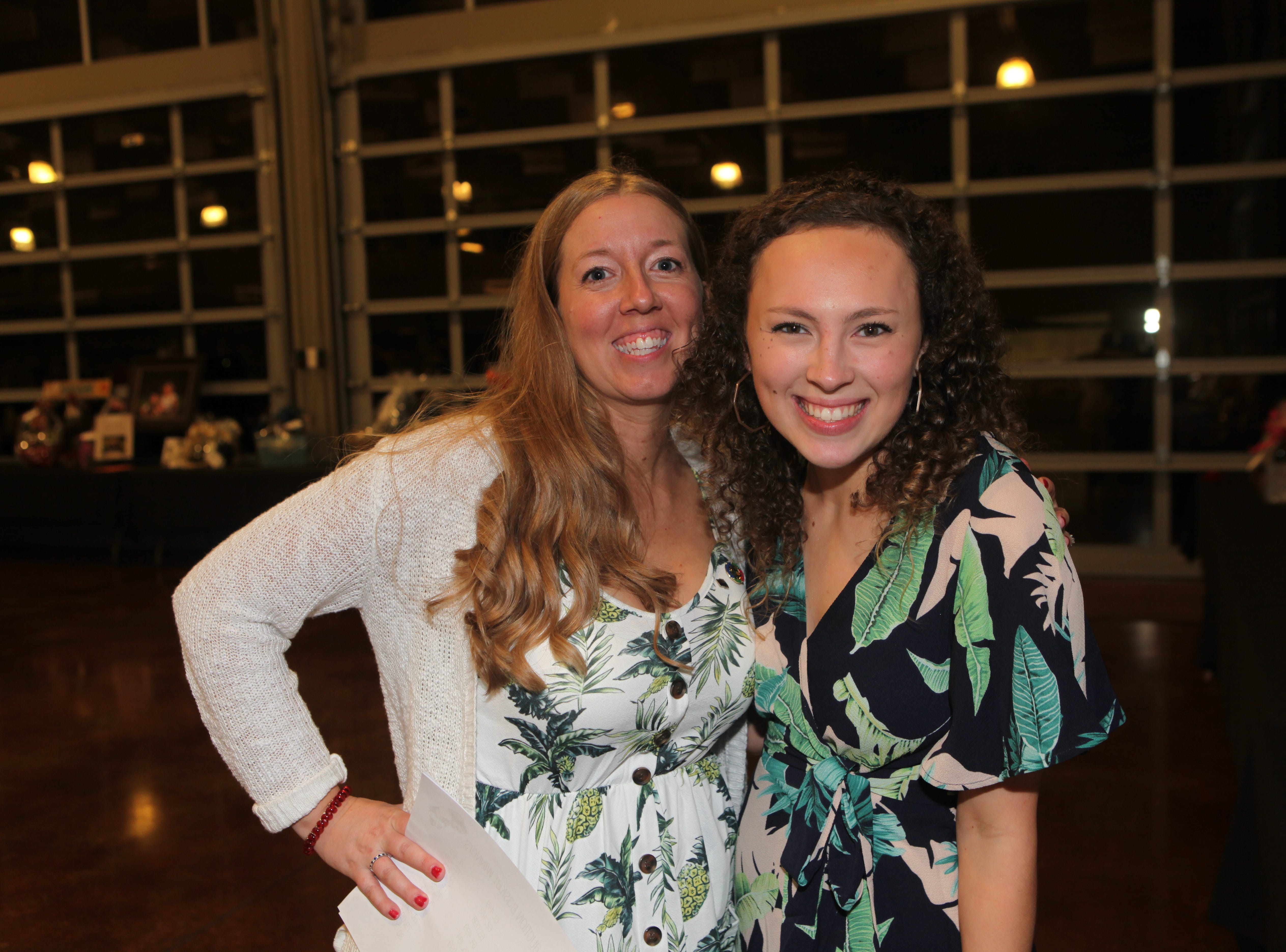 Fort Campbell Spouses Club President Colleen Murphy and Brigette Burr at the Very Important Charity Event on March 9, 2019.