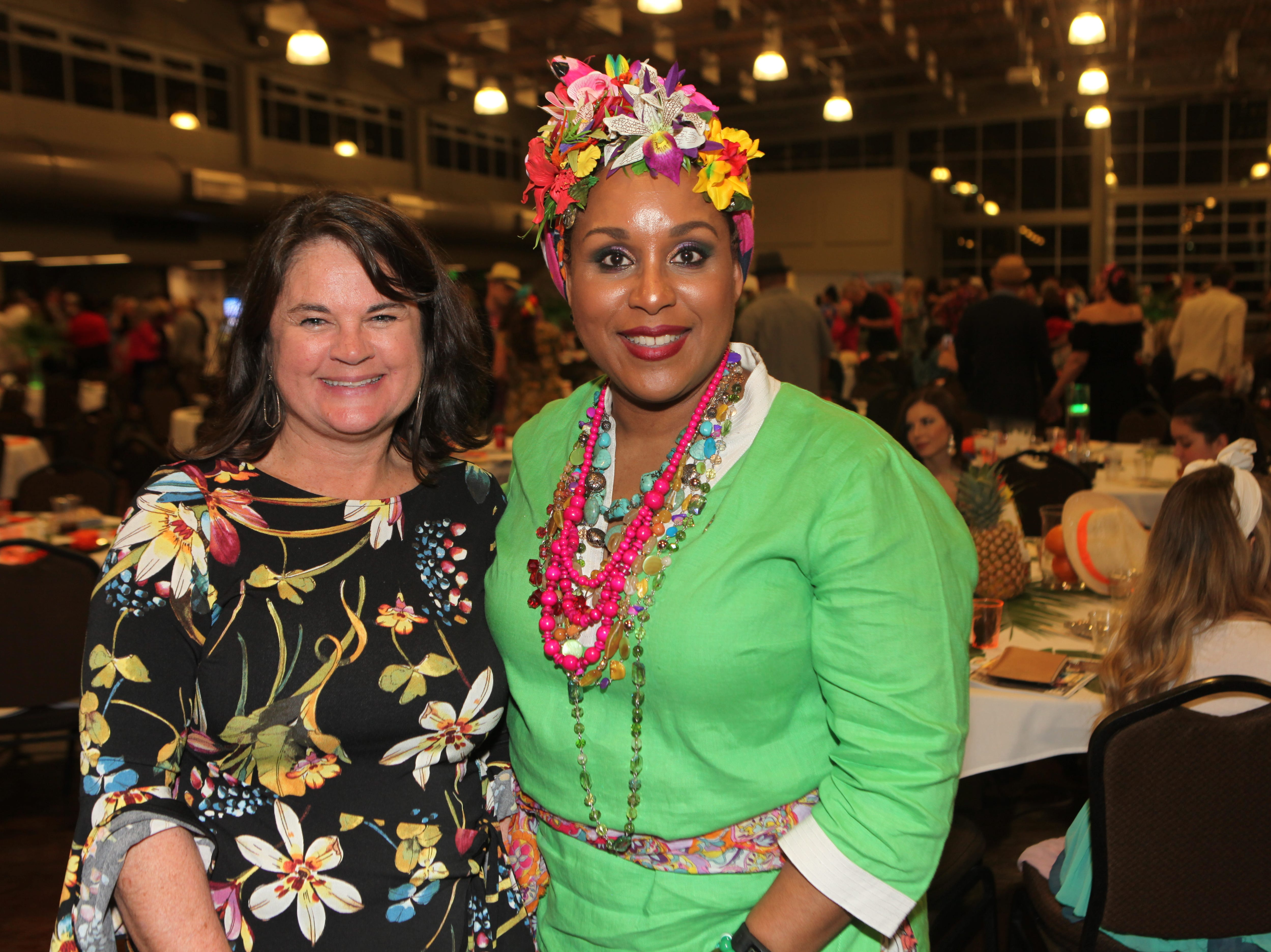 Karen Blick and Olivia Monteso Smithson at the Fort Campbell Spouses Club Very Important Charity Event on March 9, 2019.