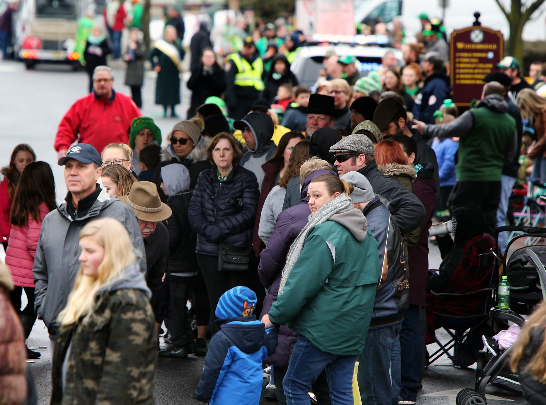Woodbridge St. Patrick's Day Parade coming down Main St. Sunday March 10, 2019 photo by Ed Pagliarini