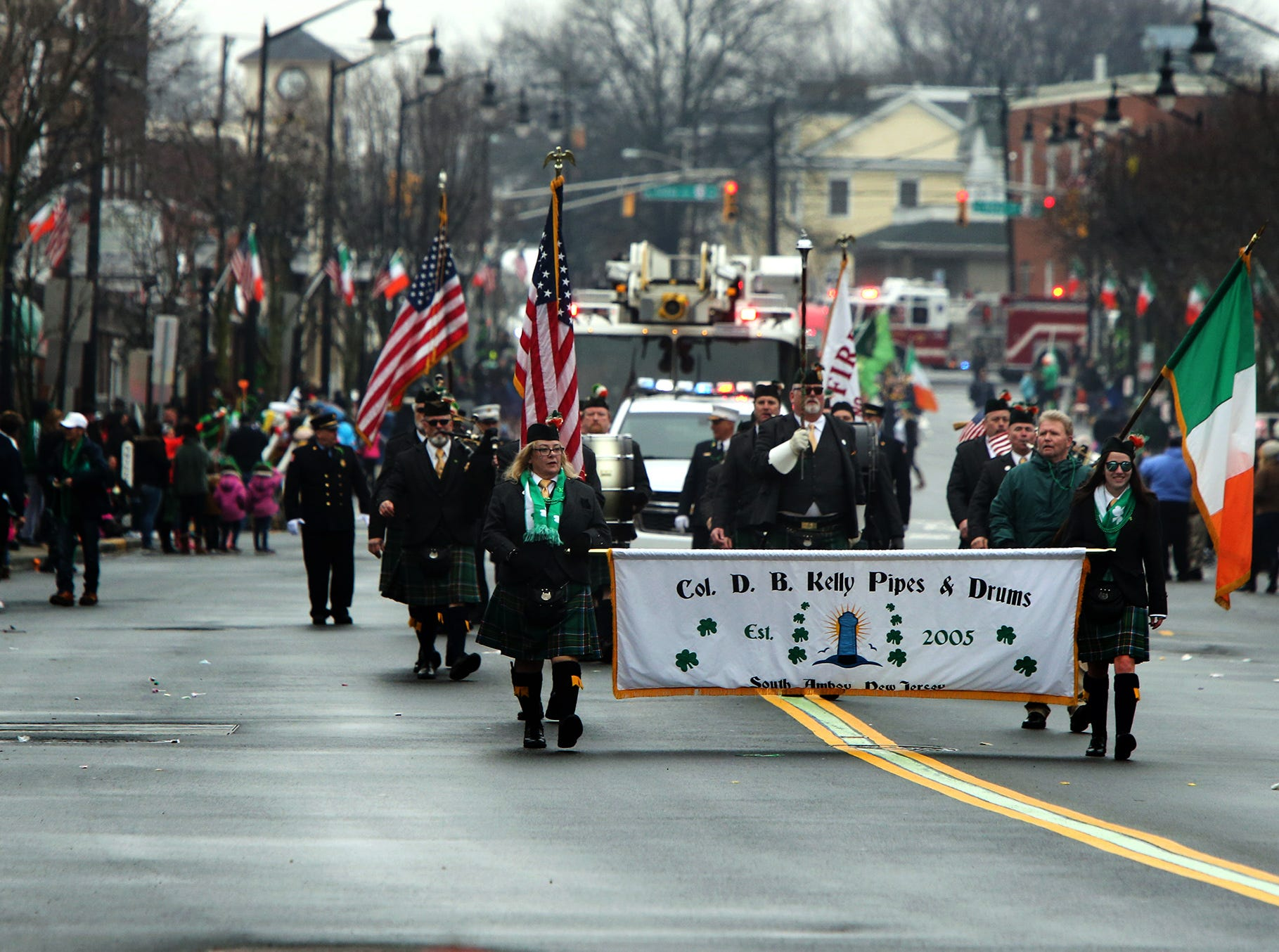 Woodbridge St. Patrick's Day Parade coming down Main Street on Sunday.