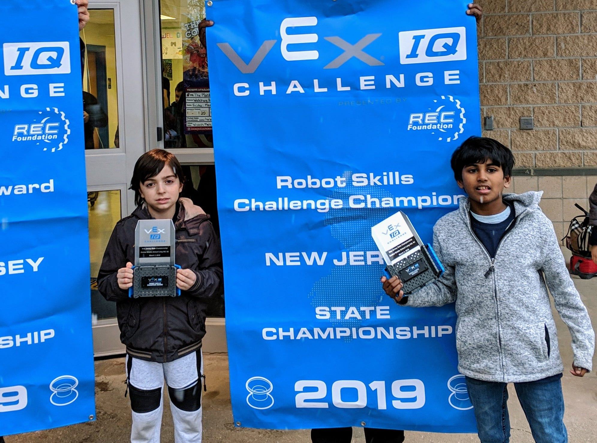 Thomas Edison EnergySmart Charter School's VEX IQ Team, E-Smart, made up of students Gagan and Levent recently participated in the State Championship Tournament held in Long Hill. E-Smart won the First Place award for Excellence.This award qualifies E-Smart to represent New Jersey at the World Championship Tournament to be held in Kentucky in April. Thomas Edison EnergySmart Charter School is located in the Somerset section of Franklin Township.