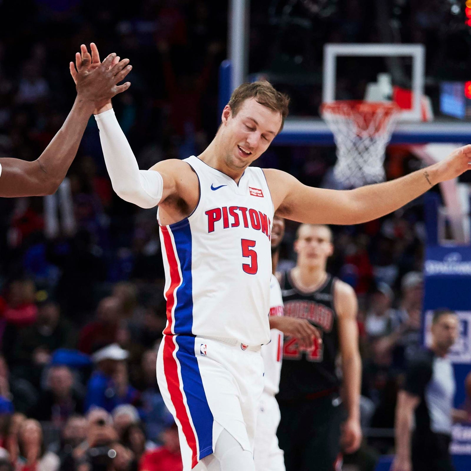 Detroit Pistons embark on 'playoff' road trip vs. pursuers Nets, Heat