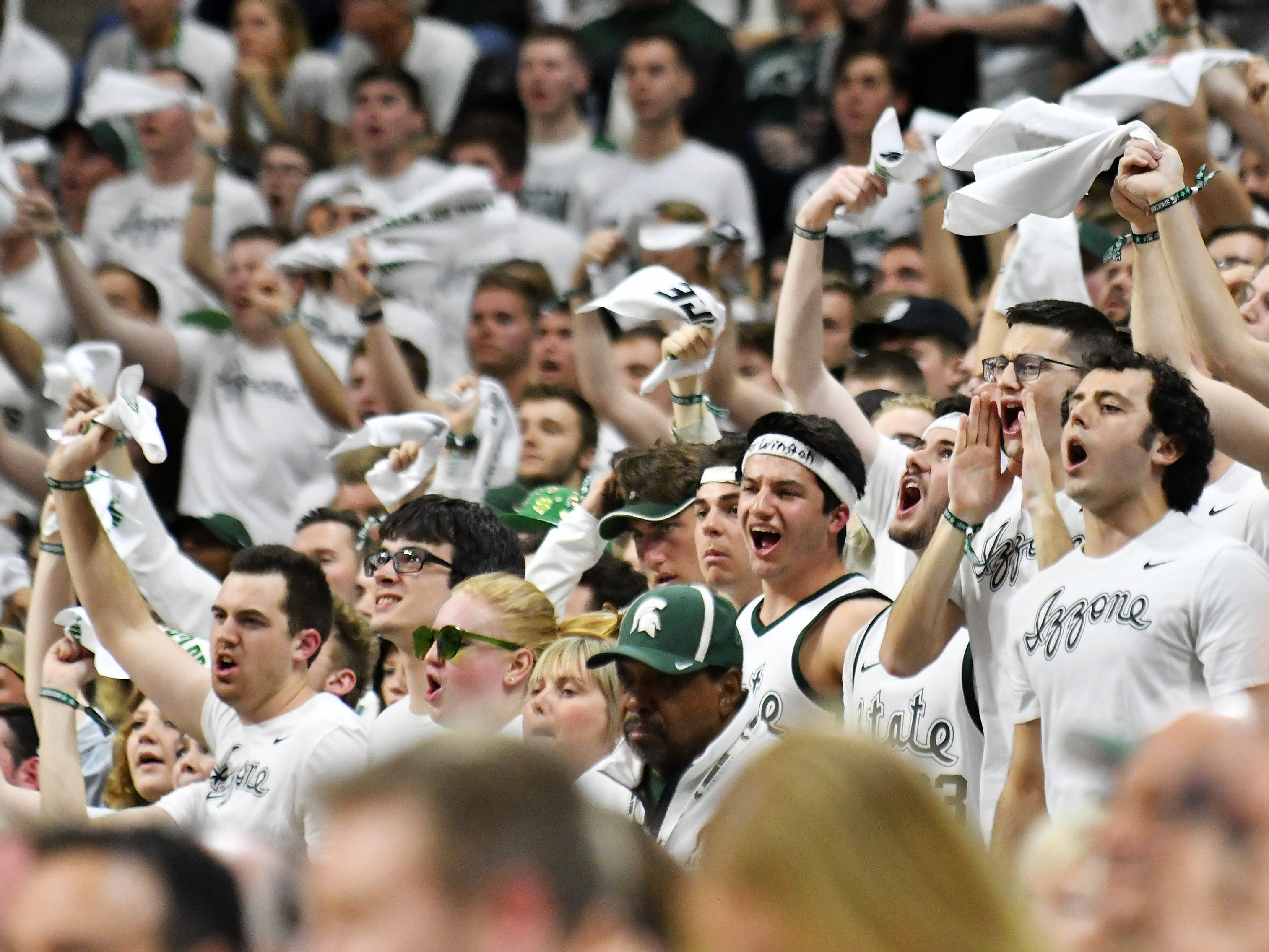 Michigan State fans make some noise in the first half.