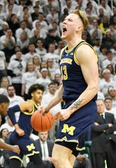 Forward Ignas Brazdeikis is the first Michigan to win Big Ten Freshman of the Year since Trey Burke in 2012.