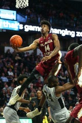 FSU senior guard Terance Mann scored eight points and grabbed seven rebounds during the Seminoles 65-57 victory over Wake Forest on Saturday at Lawrence Joel Coliseum.