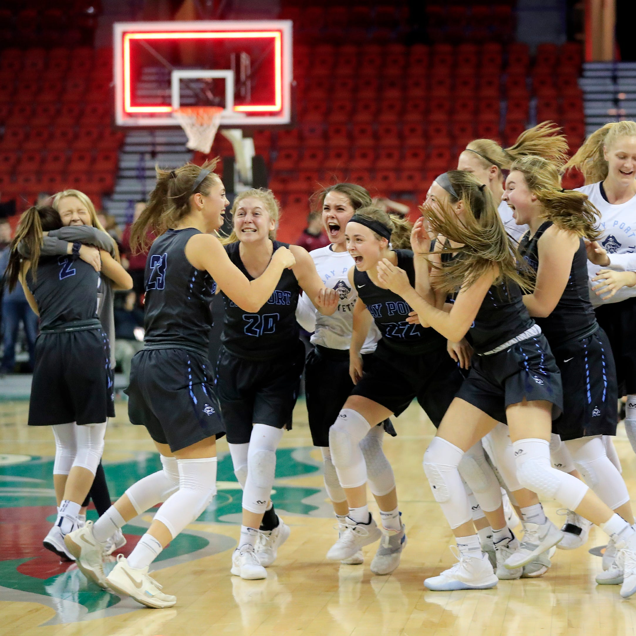State title thriller: Bay Port wins Division 1 girls basketball championship