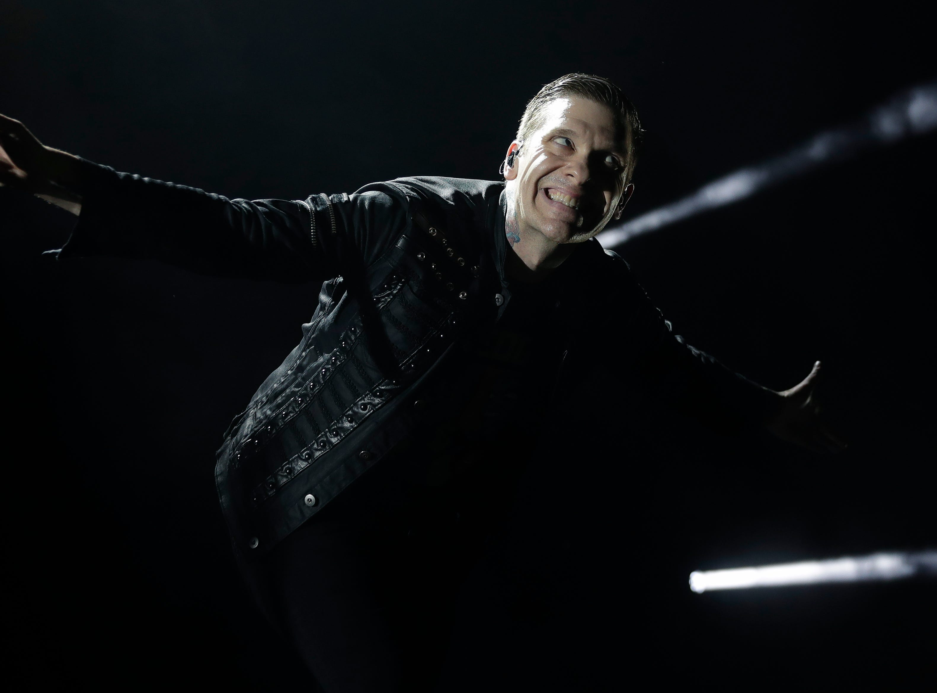 Brent Smith of Shinedown performs March 9, 2019 at the Brown County Veterans Memorial Arena in Ashwaubenon, Wis.