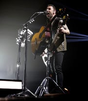 Eric Bass of Shinedown performs March 9, 2019 at the Brown County Veterans Memorial Arena in Ashwaubenon, Wis.