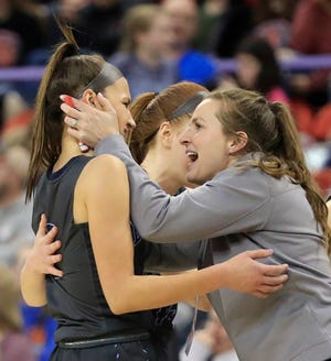 Kati Coleman led the Bay Port girls basketball team to the WIAA Division 1 state title in 2019.