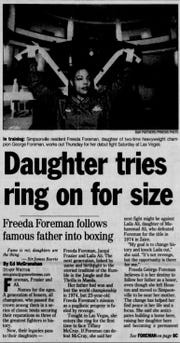 Freeda Foreman, who once lived and worked in the Greenville area, has died at age 42. She is pictured here in a newspaper clipper from The Greenville News.