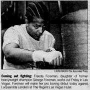 Freeda Foreman spent part of childhood living in Simpsonville and later worked in Greenville, according to Greenville News archives. She is pictured in this Associated Press photo that ran in The Greenville News in June 2000. She died in March 2019 at age 42.