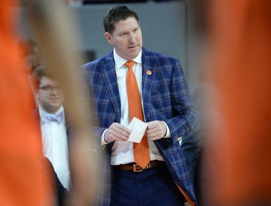 Clemson head coach Brad Brownell