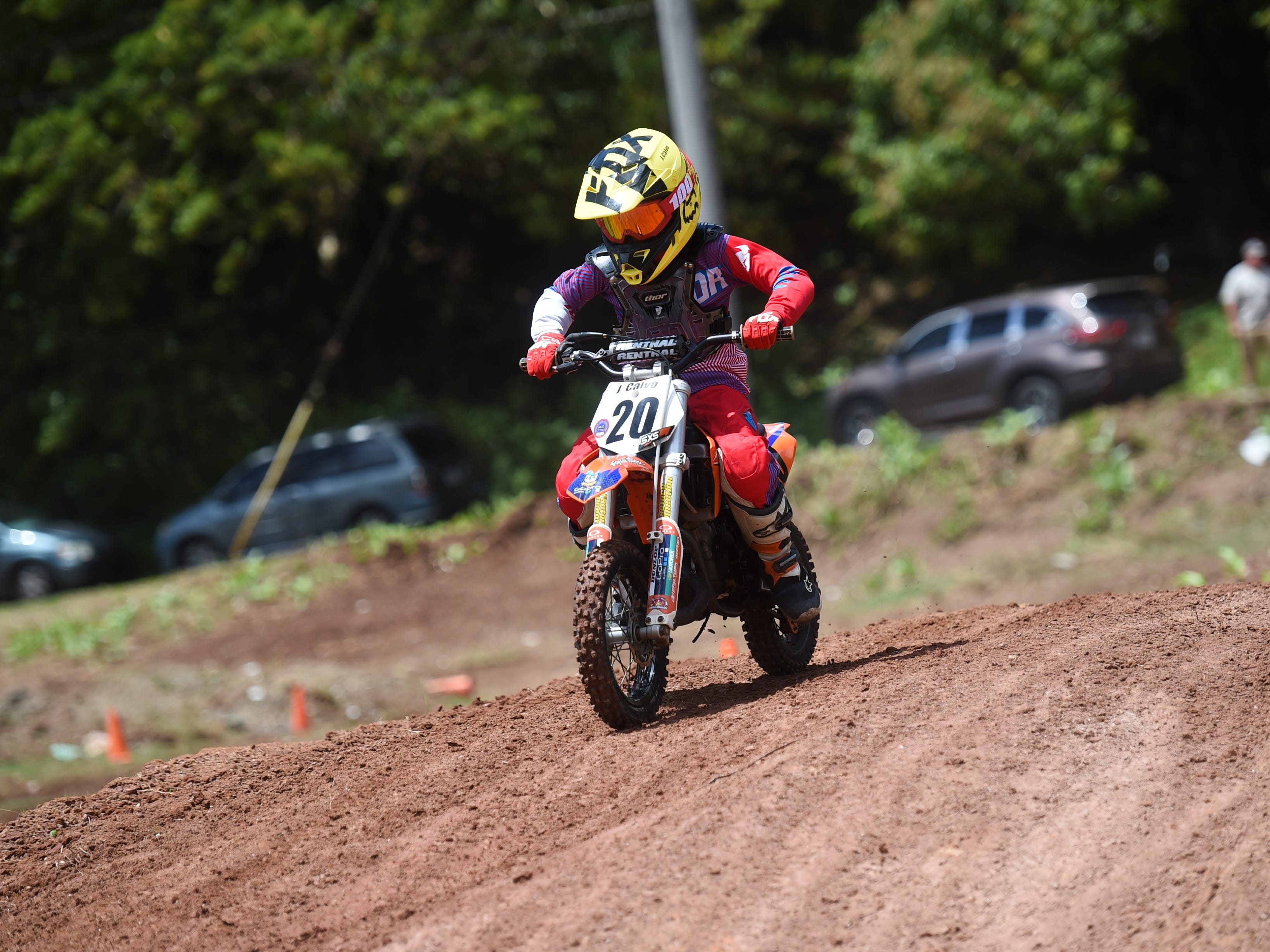 Jace Calvo competes in a motocross race during the Guam History and Chamorro Heritage Day Festival 2019 at Umatac Bay Park, March 10, 2019.