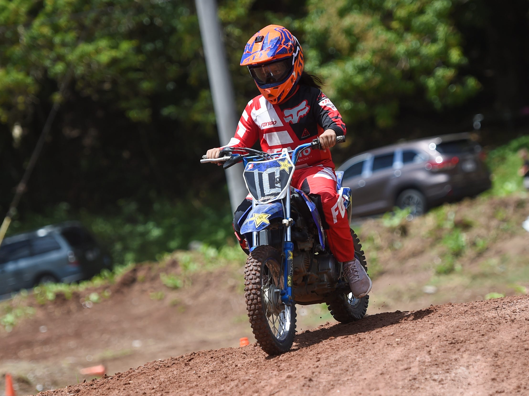 Motocross racer Jerisha Guzman competes during the Guam History and Chamorro Heritage Day Festival 2019 at Umatac Bay Park, March 10, 2019.