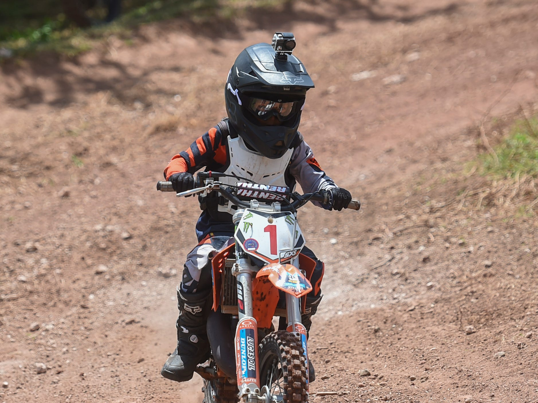 John Aguon competes in a 65cc motocross race during the Guam History and Chamorro Heritage Day Festival 2019 at Umatac Bay Park, March 10, 2019.
