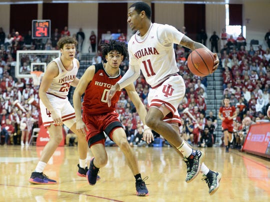 Devonte Green has scored in double figures each of the past three games for IU.