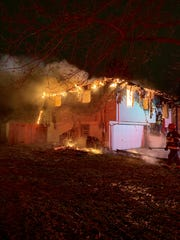 IFD battles a fire in the 4000 block of Richlelieu Road.