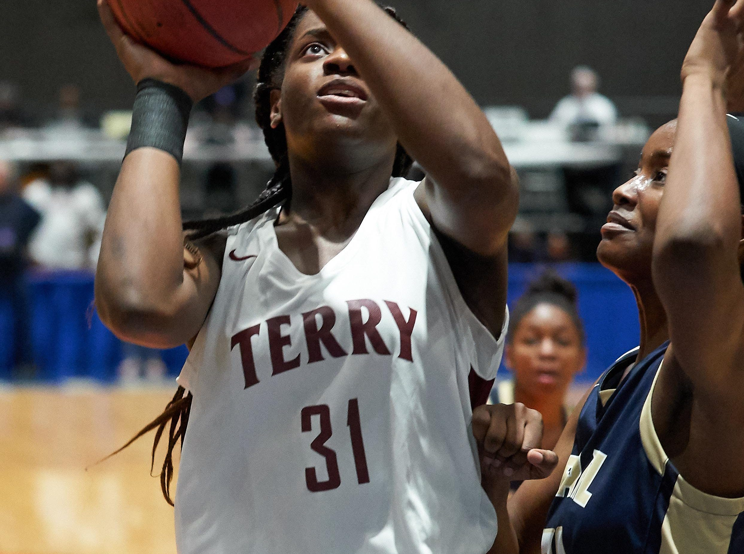 Terry's Bryanna Taylor (31) shoots during the MHSAA 6A Girls Basketball Championship Finals held at the Mississippi Coliseum in Jackson, MS, Saturday March 9th, 2019.(Bob Smith)