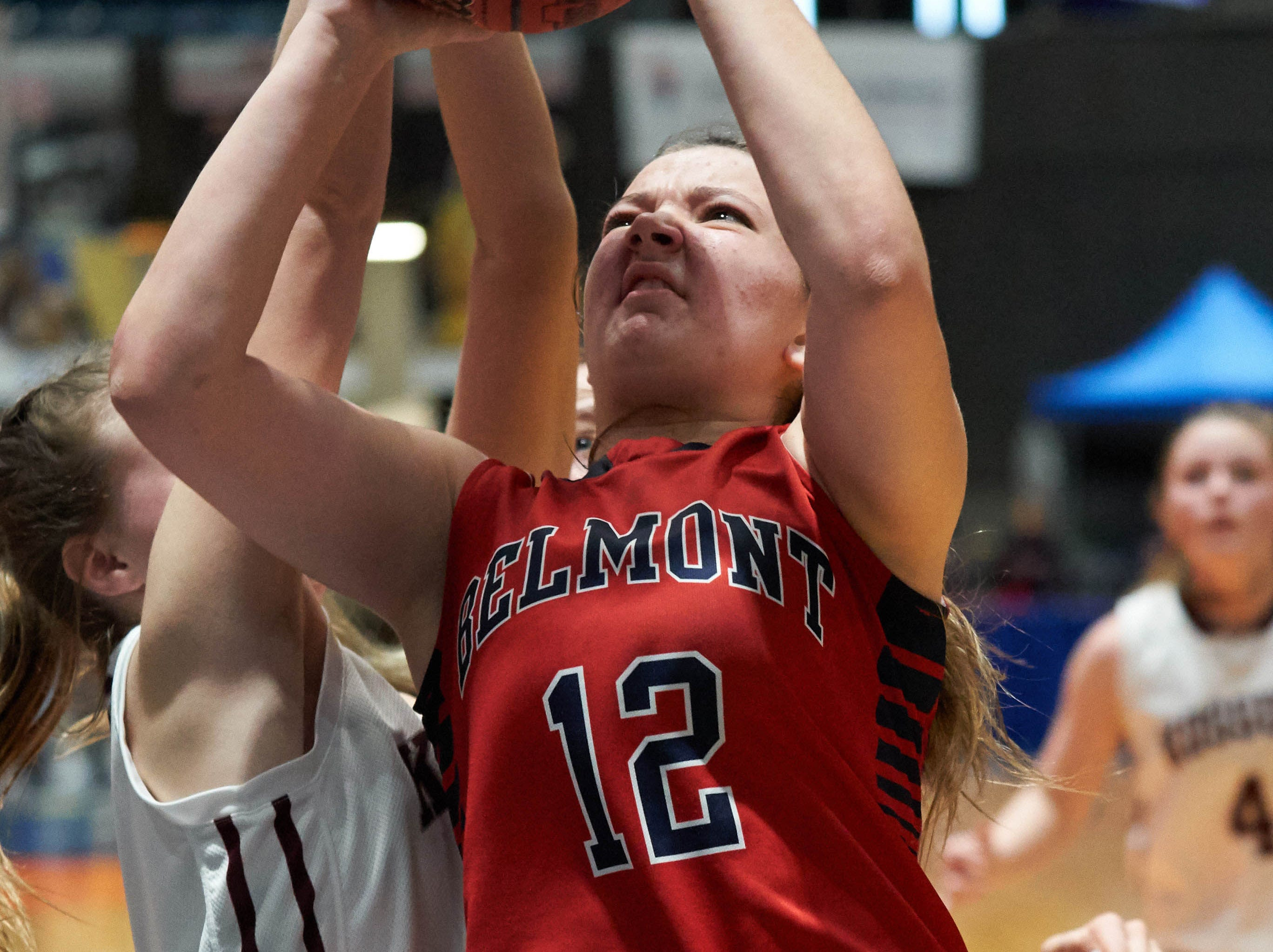 Belmont's Lacie Walker (12) drives during the MHSAA 3A Girls Basketball Championship Finals held at the Mississippi Coliseum in Jackson, MS, Saturday March 9th, 2019.(Bob Smith)