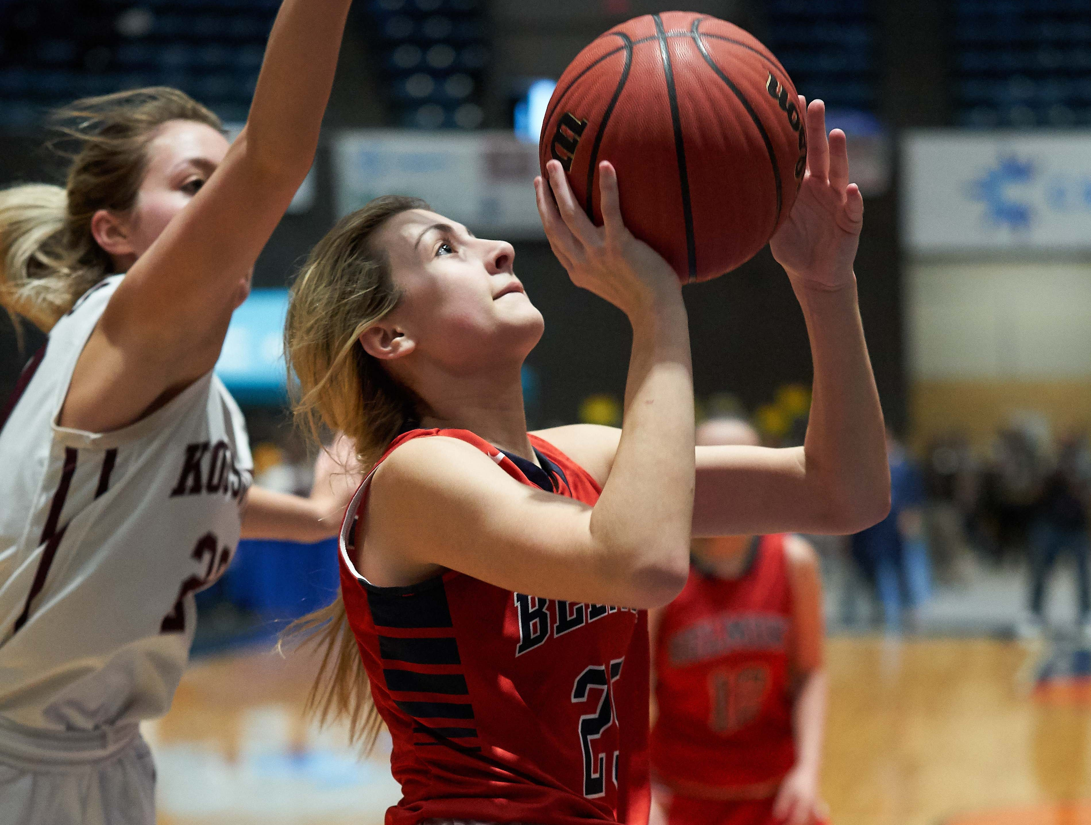 Belmont's Abby Kuykendall drives during the MHSAA 3A Girls Basketball Championship Finals held at the Mississippi Coliseum in Jackson, MS, Saturday March 9th, 2019.(Bob Smith)