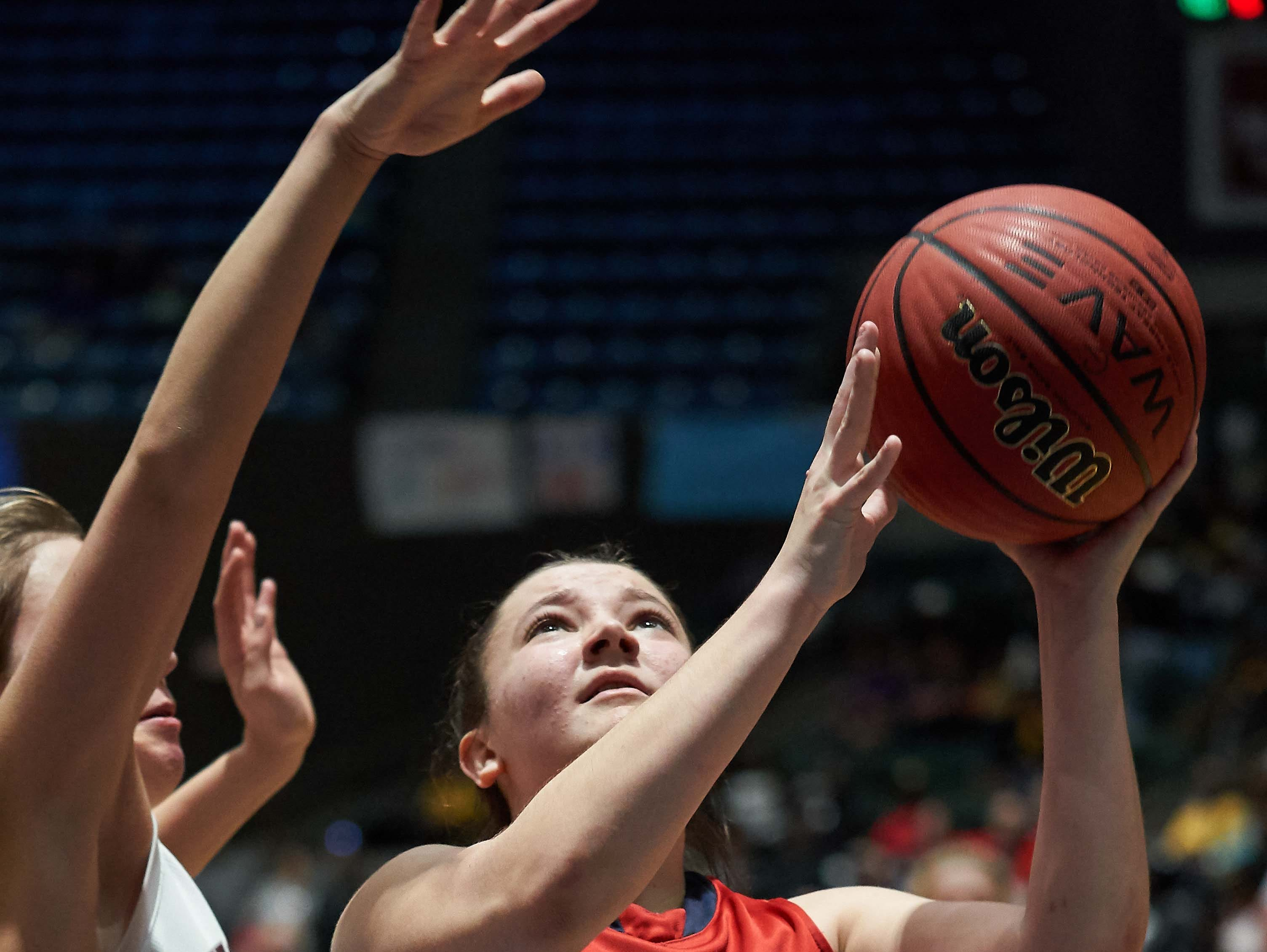 Belmont's Lacie Walker shoots(12) during the MHSAA 3A Girls Basketball Championship Finals held at the Mississippi Coliseum in Jackson, MS, Saturday March 9th, 2019.(Bob Smith)