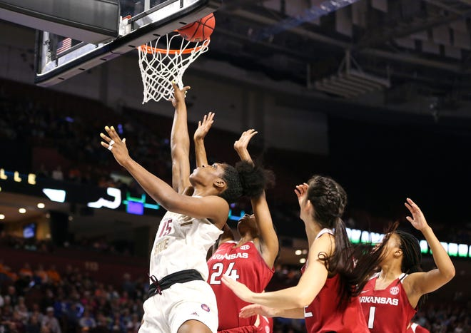 Mississippi State senior center Teaira McCowan showed why she's the SEC Player of the Year with a dazzling display of dominance against Arkansas in the SEC Tournament Championship Game.