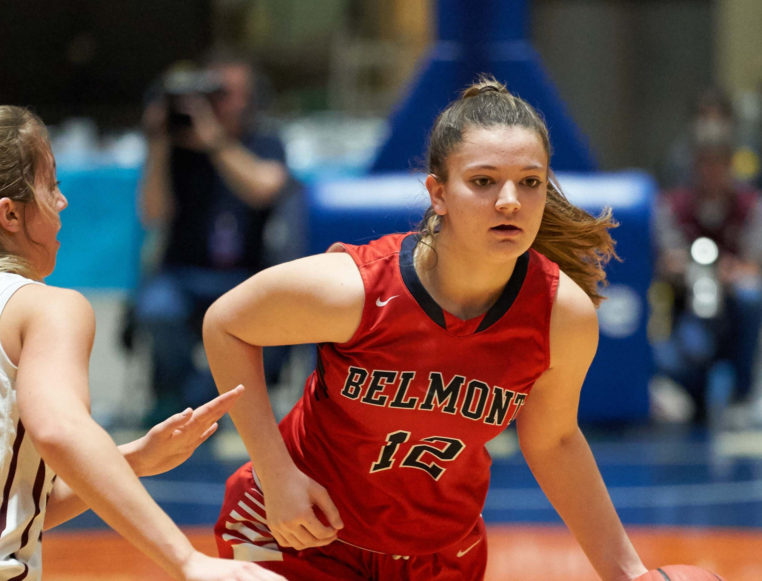Belmont's Lacie Walker drives during the MHSAA 3A Girls Basketball Championship Finals held at the Mississippi Coliseum in Jackson, MS, Saturday March 9th, 2019.(Bob Smith)