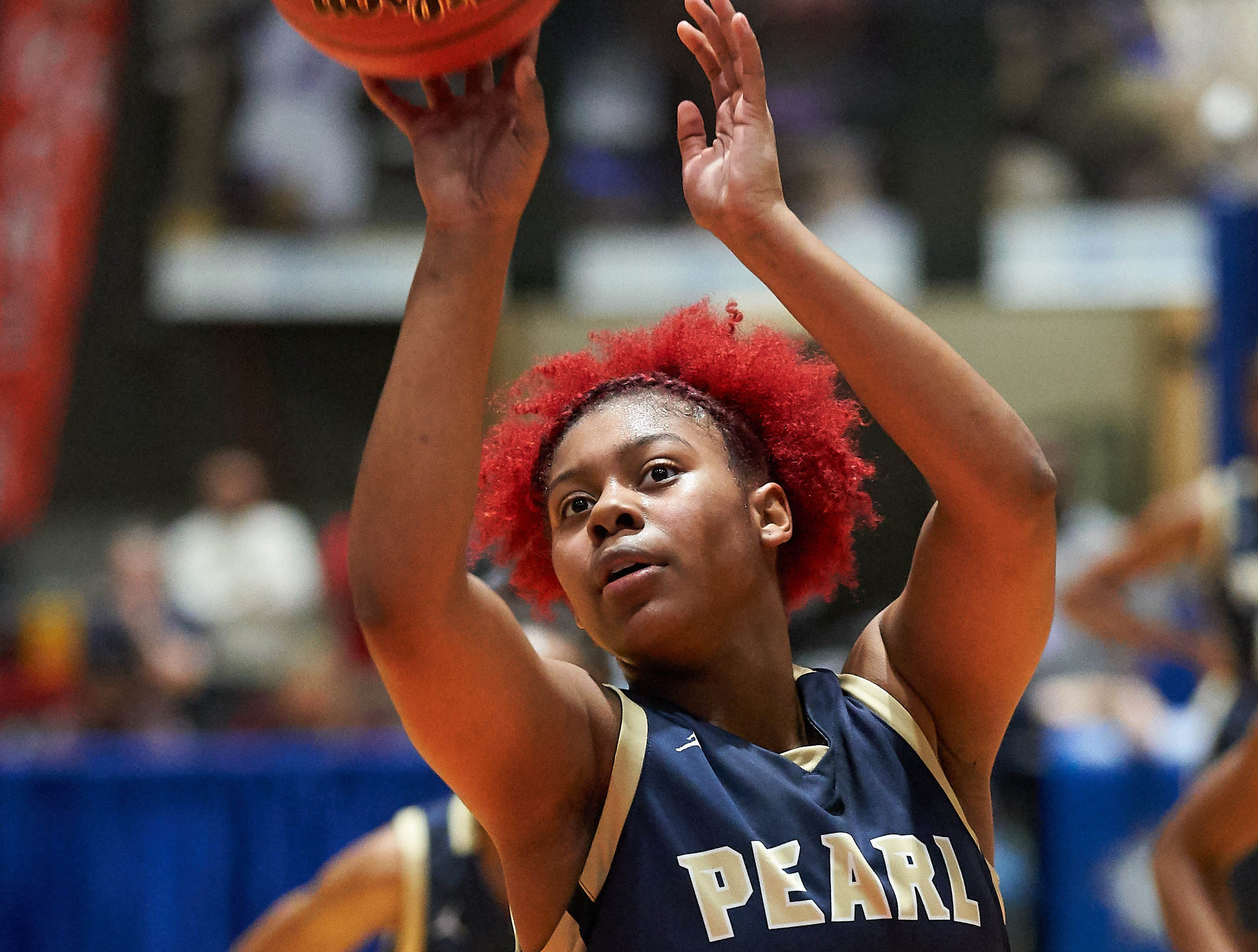 Pearl against Terry during the MHSAA 6A Girls Basketball Championship Finals held at the Mississippi Coliseum in Jackson, MS, Saturday March 9th, 2019.(Bob Smith)