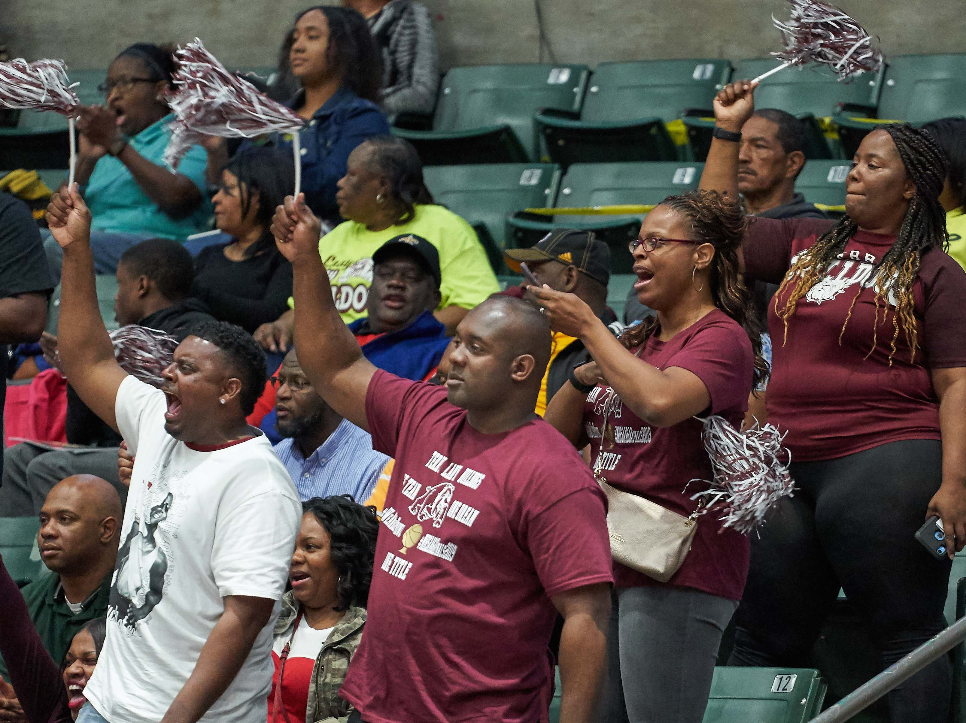 Terry fans cheer during the MHSAA 6A Girls Basketball Championship Finals held at the Mississippi Coliseum in Jackson, MS, Saturday March 9th, 2019.(Bob Smith)
