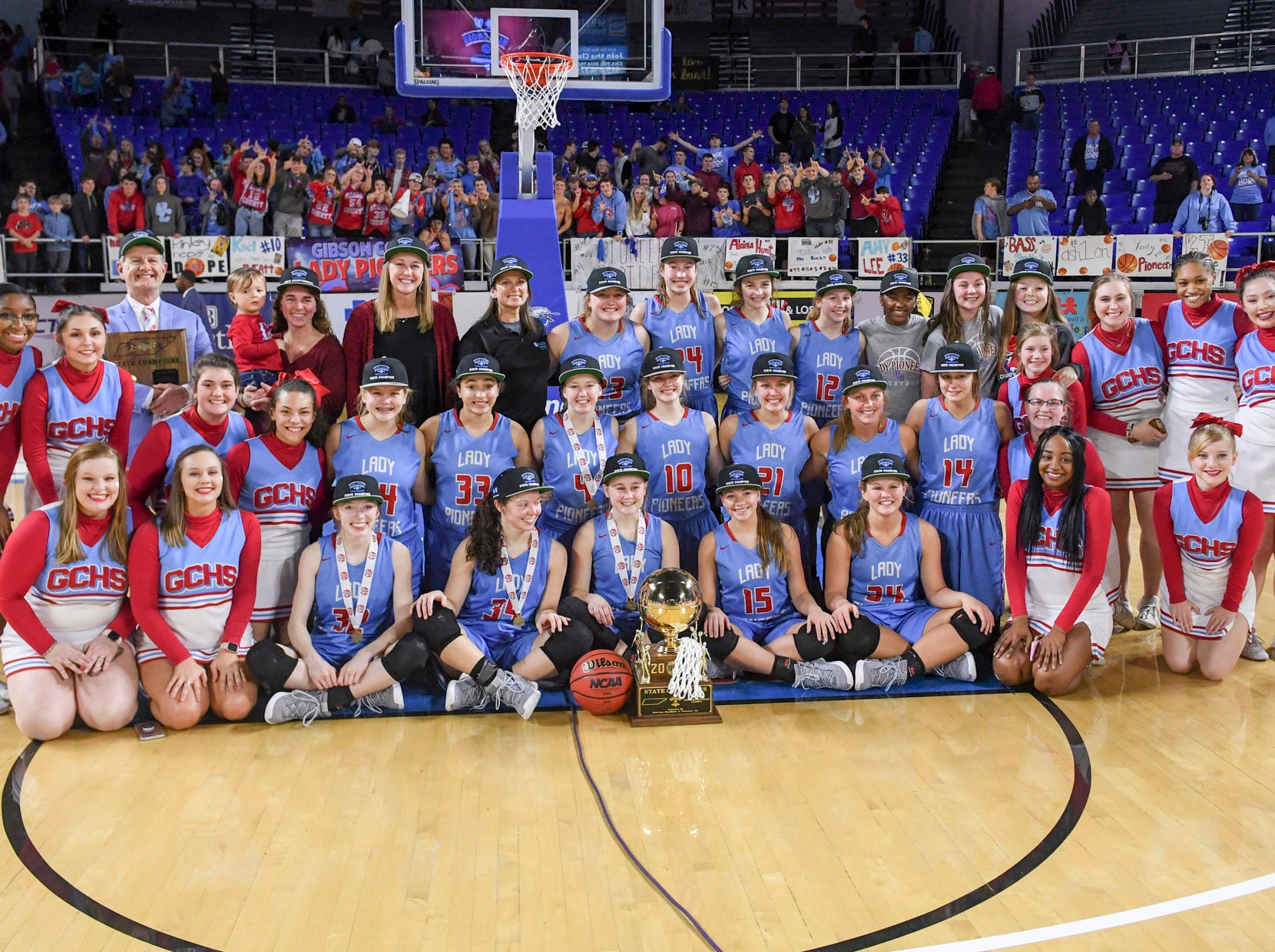 The Gibson County Lady Pioneers defeated Loretto, 50-42, to become the 2019 Class A Girls' Basketball Champions, Saturday, March 9, in Murfreesboro.