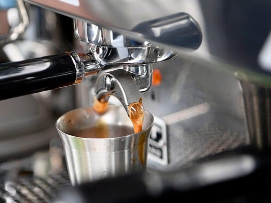 Espresso being made at Treetop Coffee Shop at Central Filling Station on Sunday, March 10, 2019.