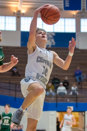 Brenner Oliver scored 12 points for Central Catholic in Saturday's win over Northwestern.