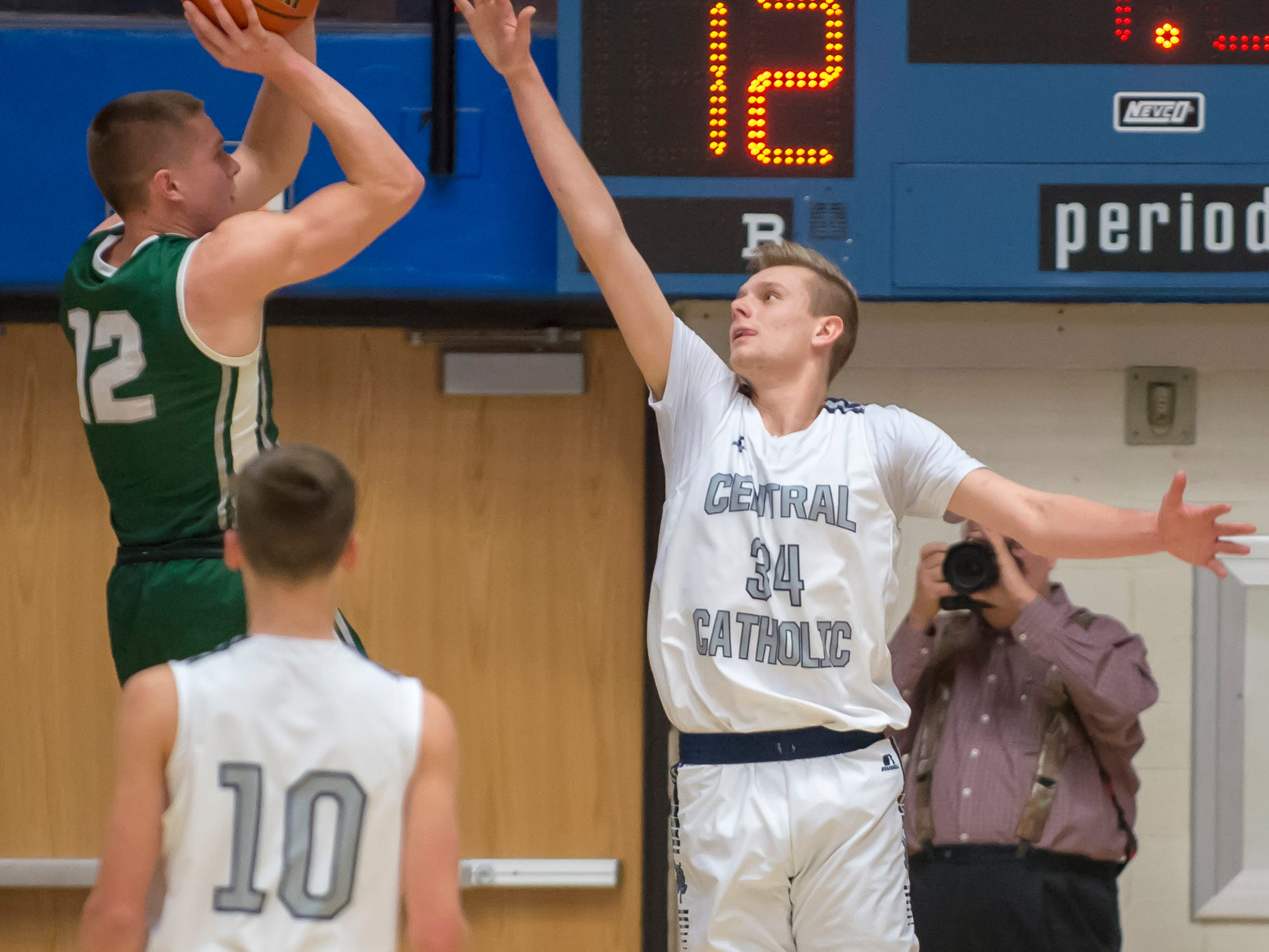 Action from the first round of the Regional between Central Catholic and Randolph Southern from Case Arena on 3/9/19