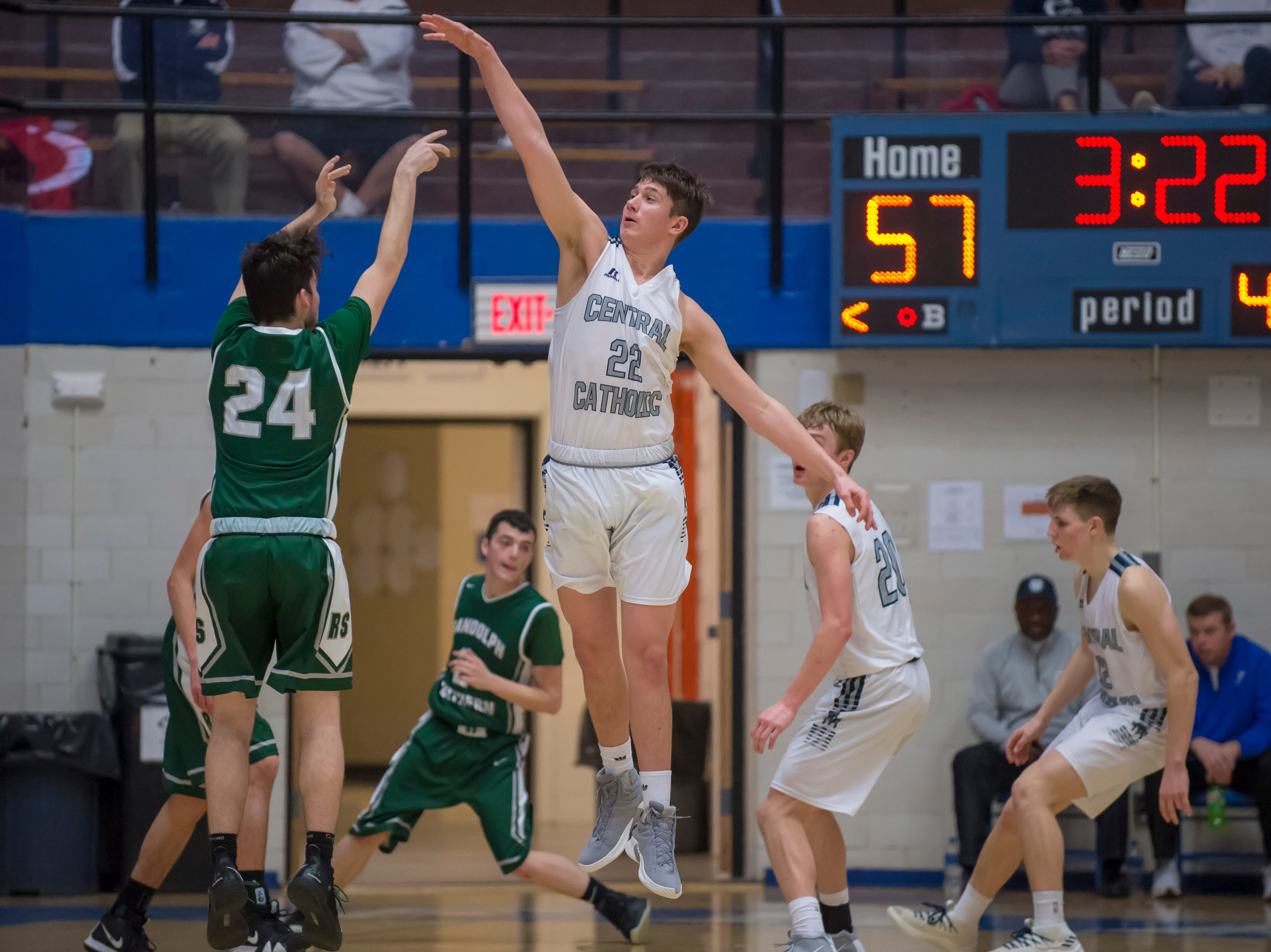 Action from the first round of the Regional between Central Catholic and Randolph Southern from Case Arena on 3/9/19 - Clark Barrett