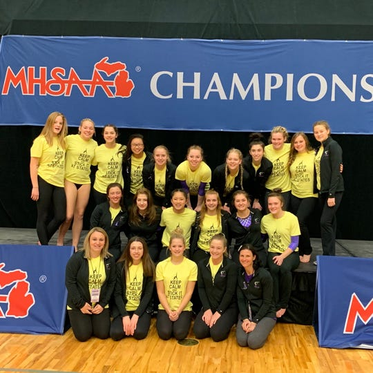 Fowlerville finished fourth in its first state gymnastics meet.