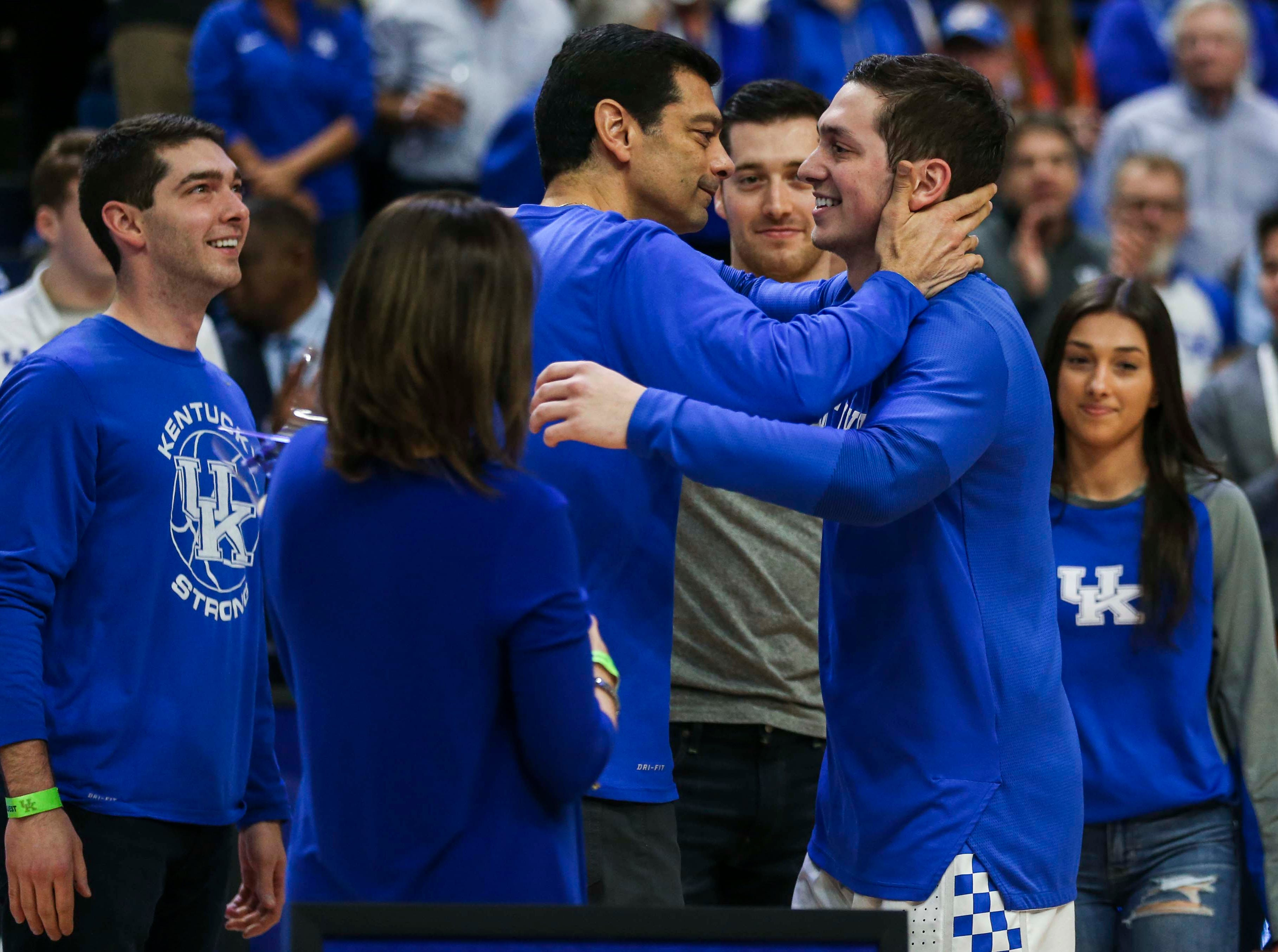 Kentucky's Jonny David was honored on Senior Day before the game against Florida. March 9, 2019