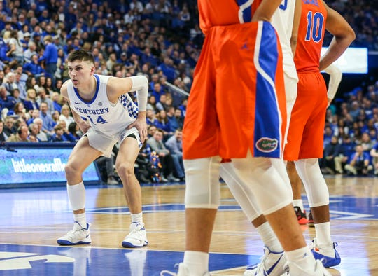 Tyler Herro prepares for a free throw as the Wildcats played against Florida Saturday afternoon. Herro finished with 16 points and was 4-for-4 from the free throw line. March 9, 2019