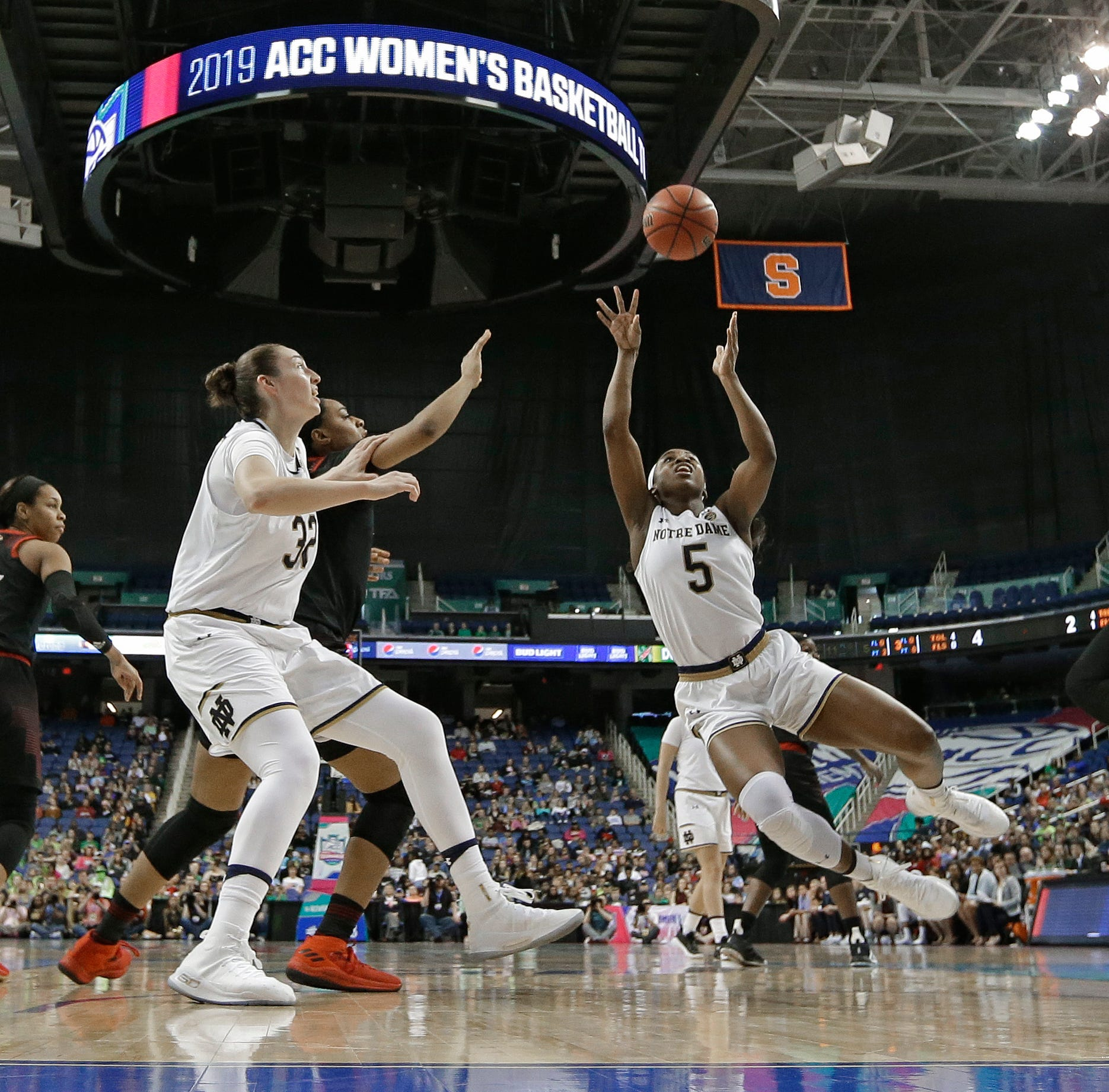 No. 4 Irish women's basketball beats No. 3 Louisville to win ACC tournament